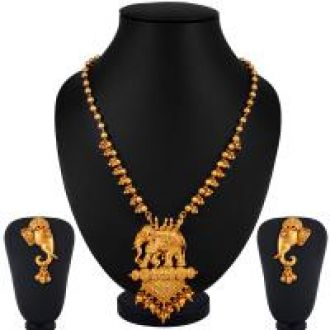 Buy Sukkhi Bahubali Matte Finished Gold Plated Necklace set for women from ShopClues