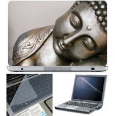 Buy Finearts Laptop Skin 15.6 Inch With Key Guard  Screen Protector - Buddha Metal for Rs. 229