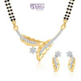 Meia Dazzling Cz Gold And Rhodium Plated Mangalsutra Set for Rs. 299