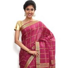 Buy Wonderful Pure Mysore silk saree-Pink-SSSB121-VQ-Crepe from ShopClues