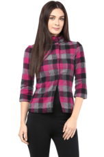 X THE VANCAWomen Fuchsia 3/4Th Sleeves Jacket In Tweed    THE VANCA Women Fuchsia 3/4Th Sleeves Jacket In Tweed    ...       Rs 1999 Rs 1199  (40% Off)         Size: S, L, XL for Rs. 1199