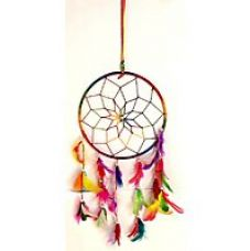 Buy Accincart Dream Catcher Wall Hanging Helps To Get Rid Of Negitive Energy Brings Positive Energy Wool Windchime  (16 inch, Multicolor) for Rs. 259