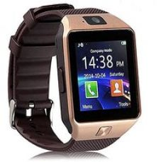 Buy Sketchfab DZ09 Bluetooth Smart Watch Wrist Watch Phone with Camera SIM Card Support - Gold from ShopClues