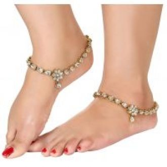 Flat 84% off on Charms Gold Plated Gold Alloy Anklets For Women