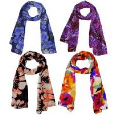 Get 61% off on Weavers Villa Set of 4 Soft Polycotton Summer Scarves, Scarf, Stoles, Dupattas
