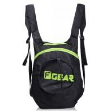 F Gear Crest Foldable Small 15L 1-DAY BACKPACK (Black Green) for Rs. 390