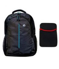 Buy HP Black Laptop Bag with 15.6-inch Laptop Notebook Sleeve  -Combo from SnapDeal