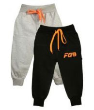 Flat 63% off on Finger's Multicolor 100% Cotton Comfortable Pack of 2 Trackpants For Boys
