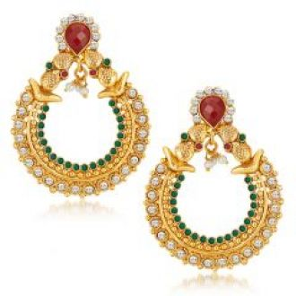Get 80% off on Sukkhi Graceful Gold Plated Australian Diamond Earrings (product Code - 6116eadp630)