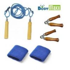 Flat 74% off on Hand Grippers + Skipping Rope + Wrist Bands