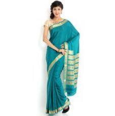 Buy Sudarshan Silks Brown Raw Silk Self Design Saree With Blouse for Rs. 5,349