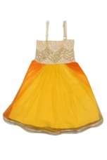 Buy X STOP Girls Blended Enbroidered Party Dress