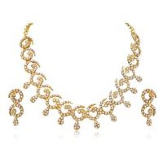 Buy Atasi International Pavaki Necklace Set (AG140) from ShopClues