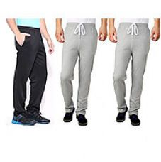 1 Black 2 Grey Colour Track Pant For Men for Rs. 5