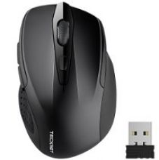 TeckNet M003 Pro 2.4G Ergonomic Wireless Mobile Optical Mouse with USB Nano Receiver,Black for Rs. 799