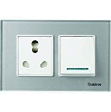 Crabtree ACMPGCSV04 Murano4 Module Glass Cover Plate (Silky Silver) for Rs. 1,599