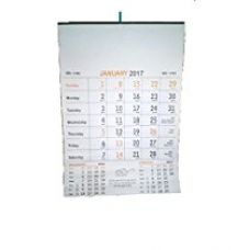Buy Indigo Creatives Office Bangalore Press style 12 page multilingual 2017 Wall Calendar with holiday/festival list from Amazon