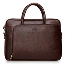 Buy The Clownfish Dual Tone Maroon Black Leather Tablet Bag and Laptop Bag for 15.6 inch Laptop screen -Macbook Pro, Macbook Air Laptop Bag from Amazon