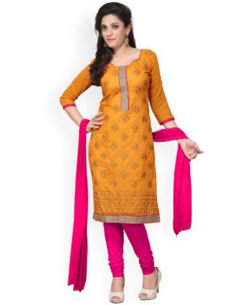 Get 80% off on Semi-Stitched Dress Material