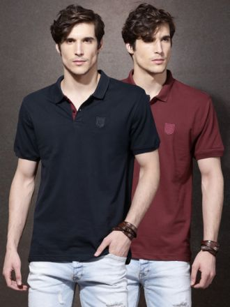 Men Pack of 2 Polo T-shirts for Rs. 699