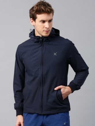 Buy HRX by Hrithik Roshan Navy Active Hooded Jacket for Rs. 1299