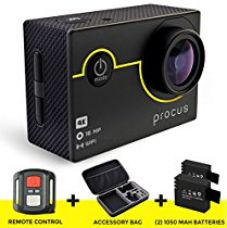 Procus Rush 2.0 16MP 4K HD Action Camera Waterproof with Wi-Fi Full Pack (Black) for Rs. 7,399