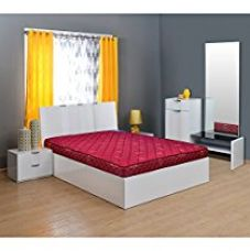 @home by Nilkamal Easy 4-inch Single Size Spring Mattress (Maroon, 78x36x4) for Rs. 7,644