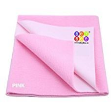 Buy Bey Bee - Quick Dry Baby Bed Protector Waterproof Sheet (Pink) {Medium} {Size: 100cm X 70cm} from Amazon