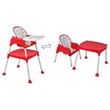 Buy LuvLap 3 in 1 Baby High Chair (Red) from Amazon