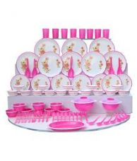 Buy Joyo Pink Microwave Dinner Set from SnapDeal