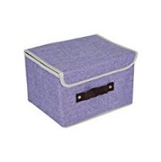 Buy Cosmosgalaxy Closet Non-Woven Portable Foldable Storage Organizer for Clothes and Toys, Purple from Amazon