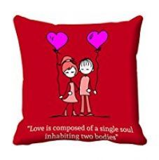Buy meSleep Red Quotes Valentine Digital Printed Cushion (With Filler) from Amazon