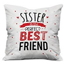 Indibni You are My Favourite Bro Quote Printed White Cushion Cover 12x12 with Filler - Gift For Siblings Birthday Anniversary for Rs. 269
