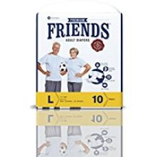 Friends Adult Diaper (Premium) - Large (10 Count) for Rs. 400