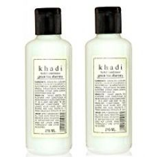 Buy Khadi Herbal Greentea and Aloevera Hair Conditioner, 210ml (Pack of 2) from Amazon
