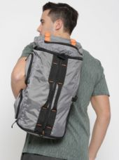 Buy Unisex Grey Printed All Rounder Duffel Bag cum Backpack for Rs. 749
