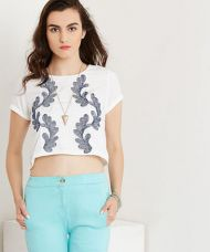 Yepme Debra Crop Top - White for Rs. 399