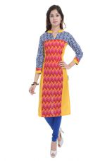 Beautiful Cotton Multi color Kurti From the house of Preksha for Rs. 575