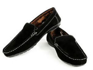 Vedano Black Suede Leather Shoes for Rs. 399