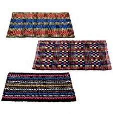 Buy Story@Home Traditional Style Eco Series 3 Piece Cotton Blend Door Mat Set - 16
