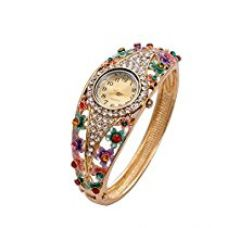 Valentine Gifts : YouBella Luxury 18k Rose Gold Bangle Watch Bracelet Jewellery For Girls and Women for Rs. 719
