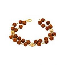 Buy Dare by Voylla Brown Alloy with Yellow Gold Plated Bracelet for Men from Amazon