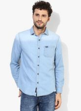 U.S. Polo Assn. Blue Washed Slim Fit Casual Shirt for Rs. 1760