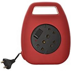 Buy Alex 6A 2 Pin Plug Socket 10 Meter Long Electrical Extension Cord (with 3 Two pin & 2 Three Pin Socket), Red from Amazon