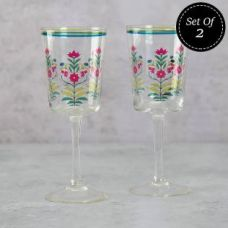 Flat 30% off on Garden of Eva Wine Glasses (Set of 2)