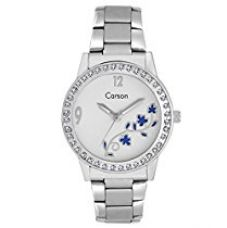 Carson Analogue White Dial Girls Wrist Watch:-cr-3508 for Rs. 449