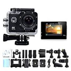 Buy DMG Sports Camera, Wifi 4K Waterproof Helmet Sports Camera with 2 inch LCD Display Ultra-HD 4K 12MP 170° Wide Angle Lens Full HD from Amazon