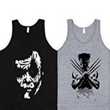 Buy SayItLoud Men's Printed Vest(Pack of 2)(CG4AOCBLACKWOLVERINEWHT-XL_Black,White_X-Large) from Amazon