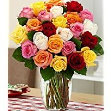 Buy Flaberry Rainbow Roses from Amazon