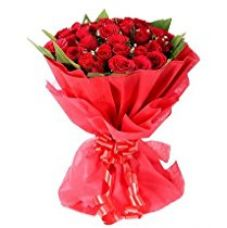Buy Flaberry Valentine's Present with 25 Red Roses from Amazon